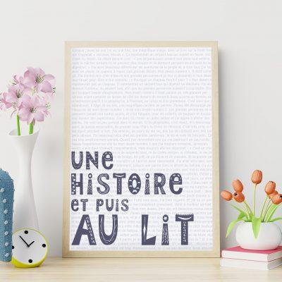 Le poster de naissance : une histoire et puis au lit