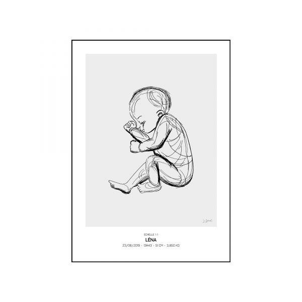 L'original - Pierres de naissance - Avril - Couleur Diamant encadré