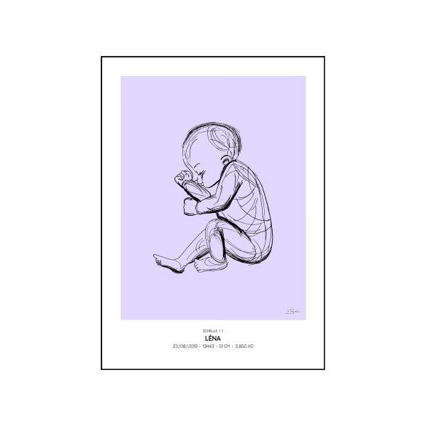 L'original - Pierres de naissance - Decembre - Couleur Tanzanite encadré