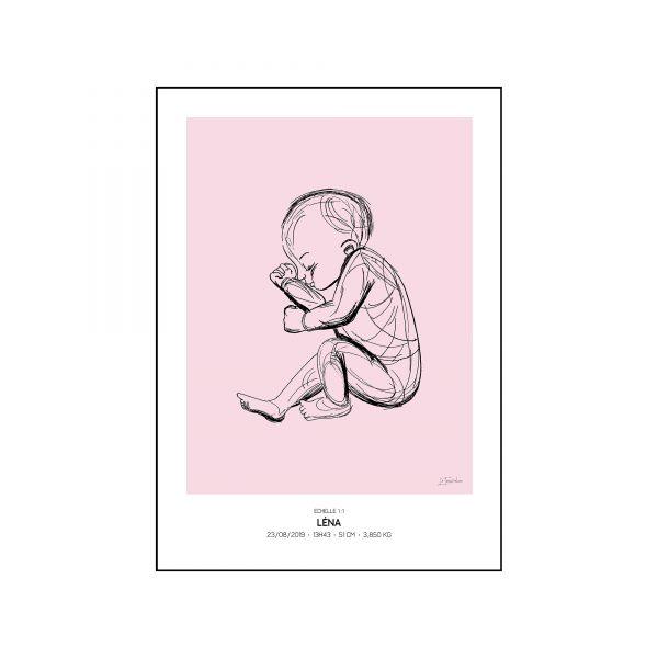 L'original - Pierres de naissance - Octobre - Couleur Tourmaline encadré