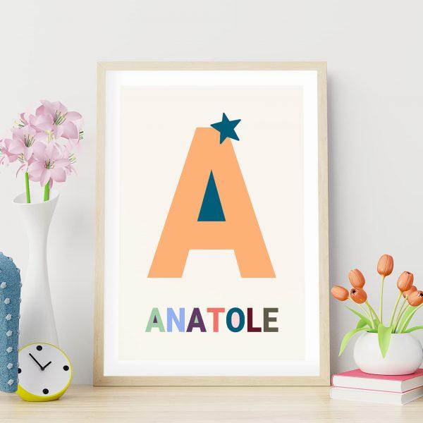 Poster personnalisé Les grandes lettres : la lettre A