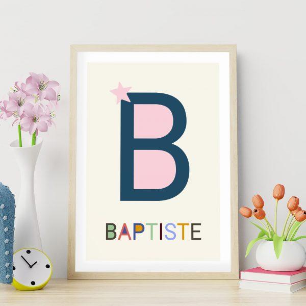 Poster personnalisé Les grandes lettres : la lettre B